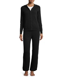 Neiman Marcus Cashmere Hoodie And Pant Lounge Set Black