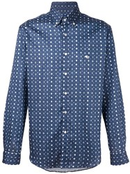 Etro Medallion Print Shirt Blue