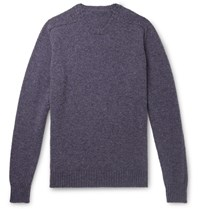 Anderson And Sheppard Camoshita Shetland Wool Sweater Purple