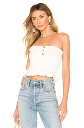 Free People Babe Tube Top White