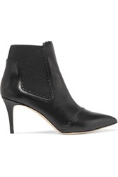 Bionda Castana Maryon Leather Ankle Boots Black
