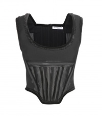 Givenchy Wool Corset Top Black