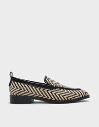 Charles And Keith Almond Toe Loafers Beige