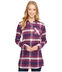 Mountain Khakis Penny Plaid Tunic Shirt Huckleberry Women's Blouse Pink