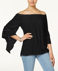 American Rag Off The Shoulder Peasant Top Only At Macy's Classic Black