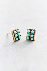 Urban Renewal Delicate Turquoise Stud Earring Silver