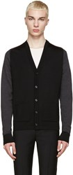 Maison Martin Margiela Tricolor Wool Colorblock Cardigan