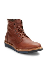 Diesel Jarghe Leather High Top Boots Medium Brown