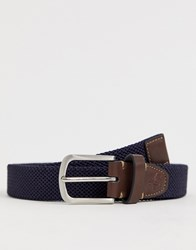 Original Penguin Webbing Belt In Black Navy