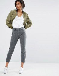 Vero Moda Slim Leg Trouser Dark Grey