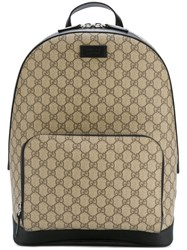 Gucci 'Gg Supreme' Backpack Nude And Neutrals