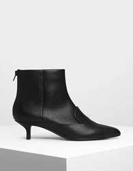 Charles And Keith Loafer Detail Ankle Boots Black