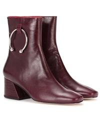 Dorateymur Nizip Leather Ankle Boots Red