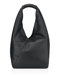 Anne Klein Amorphous Leather Hobo Black Silver