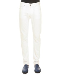 Tomas Maier White Five Pocket Jeans