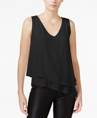 Bar Iii Asymmetrical Layered Look Top Only At Macy's Deep Black