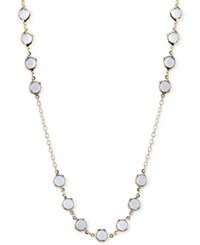 2028 Gold Tone Clear Crystal Long Length Necklace