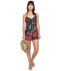 Obey Jinx Playsuit Black Multi Women's Jumpsuit And Rompers One Piece