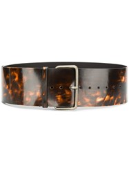 Ann Demeulemeester Wide Belt Brown