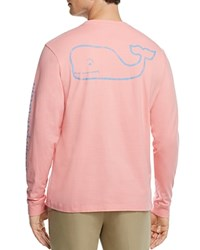 Vineyard Vines Whale Graphic Long Sleeve Pocket Tee Strawberry