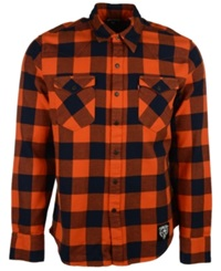 Levi's Men's Chicago Bears Plaid Button Up Shirt Orange Navy