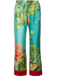 F.R.S For Restless Sleepers Tropical Print Pyjama Trousers Blue
