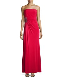Laundry By Shelli Segal Strapless Gathered Jersey Gown Lava