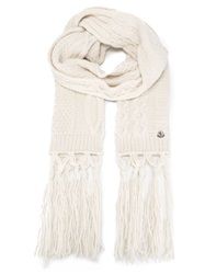 Moncler Oversize Knitted Scarf Nude And Neutrals