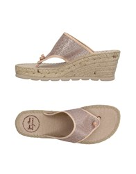 Toni Pons Footwear Toe Post Sandals Skin Colour