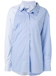 Ground Zero Layered Button Shirt Blue