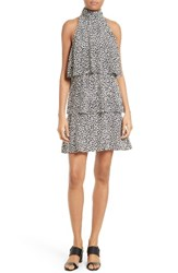 Tracy Reese Women's Print Tiered Halter Dress