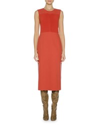 Agnona Sleeveless Double Stretch Knit Dress Red