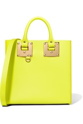 Sophie Hulme Albion Neon Leather Tote Bright Yellow