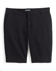 Lord And Taylor Plus Stretch Bermuda Shorts Black