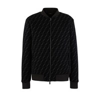 Fendi Ff Zipped Jacket Nero