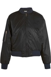 Ganni Greenwood Shell Bomber Jacket Black