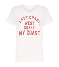 Denim And Supply Ralph Lauren Tomboy East West Coast T Shirt Female White