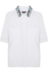 Holly Fulton Embellished Cotton Poplin Shirt