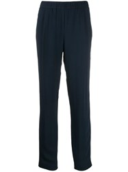 Fabiana Filippi Ruched Waist Trousers Blue