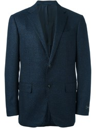 Ermenegildo Zegna Two Button Blazer Blue