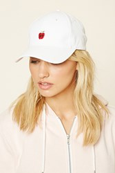 Forever 21 Ny Embroidered Baseball Cap White Red