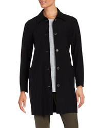 Eileen Fisher Solid Button Down Jacket Black
