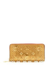Christian Louboutin Panettone Embellished Leather Wallet Gold