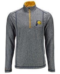 Antigua Indiana Pacers Tempo Half Zip Pullover Heather Charcoal