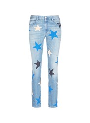 Stella Mccartney Star Print Slim Fit Boyfriend Jeans Blue