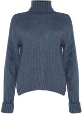 Alice And You Knitted Roll Neck Jumper Blue
