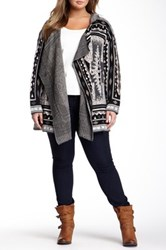 14Th And Union Hooded Cardigan Plus Size Gray
