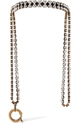 Balenciaga Gold Tone Crystal Necklace Metallic