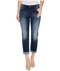 Kut From The Kloth Amy Crop Straight Leg Roll Up Frey In Celebration Celebration Women's Jeans Red