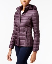 32 Degrees Packable Hooded Puffer Coat Only At Macy's Eggplant